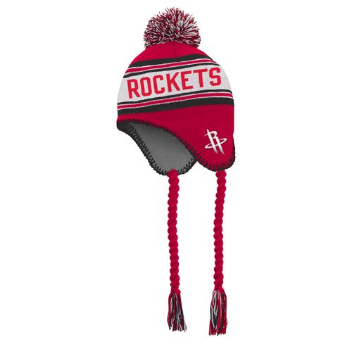 adidas™ Boys' Houston Rockets Pom Tassel Knit Cap