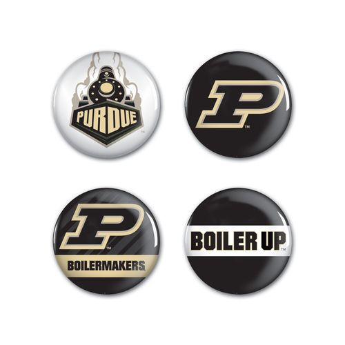 "WinCraft Purdue University 1.25"" Round Buttons 4-Pack"