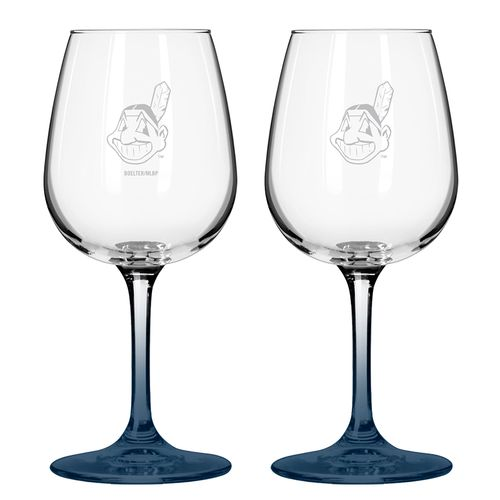 Boelter Brands Cleveland Indians 12 oz. Wine Glasses 2-Pack