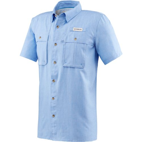 Magellan outdoors men 39 s aransas pass heather short sleeve for Magellan fishing shirts
