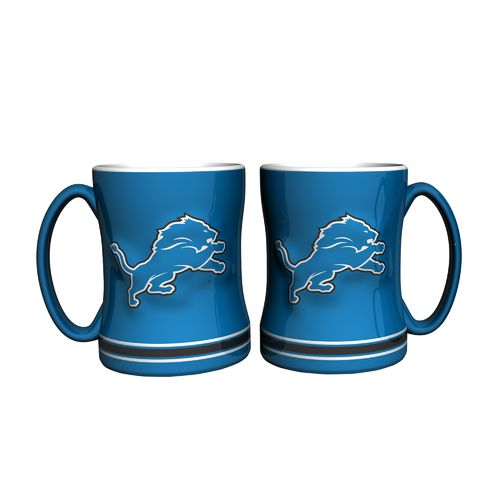 Boelter Brands Detroit Lions 14 oz. Relief Mugs 2-Pack
