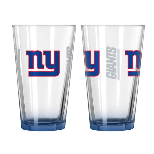 Boelter Brands New York Giants Elite 16 oz. Pint Glasses 2-Pack