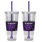 Boelter Brands Kansas State University Bold Neo Sleeve 22 oz. Straw Tumblers 2-Pack - view number 1