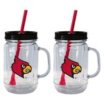 Boelter Brands University of Louisville 20 oz. Handled Straw Tumblers 2-Pack - view number 1