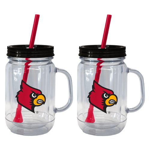 Boelter Brands University of Louisville 20 oz. Handled Straw Tumblers 2-Pack