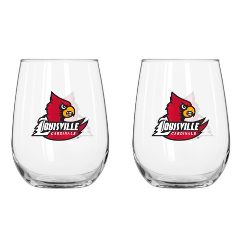 Boelter Brands University of Louisville 16 oz. Curved Beverage Glasses 2-Pack - view number 1