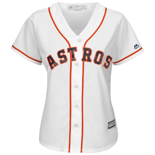 Majestic Women's Houston Astros José Altuve #27 Cool Base Replica Home Jersey - view number 2