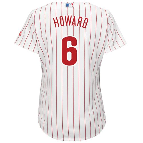 Majestic Women's Philadelphia Phillies Ryan Howard #6 Cool Base® Replica Home Jersey - view number 1