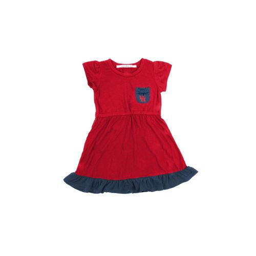 Chicka-d Toddler Girls' University of Houston Cap Sleeve Ruffle Dress