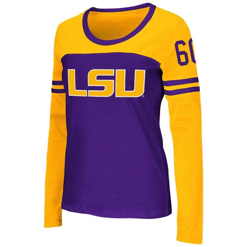 Colosseum Athletics™ Women's Louisiana State University Hornet Football Long Sleeve T-shirt
