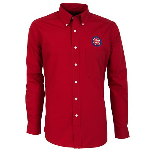 Antigua Men's Chicago Cubs Dynasty Long Sleeve Button Down Shirt