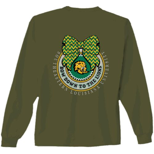 New World Graphics Women's Southeastern Louisiana University Ribbon Bow Shirt