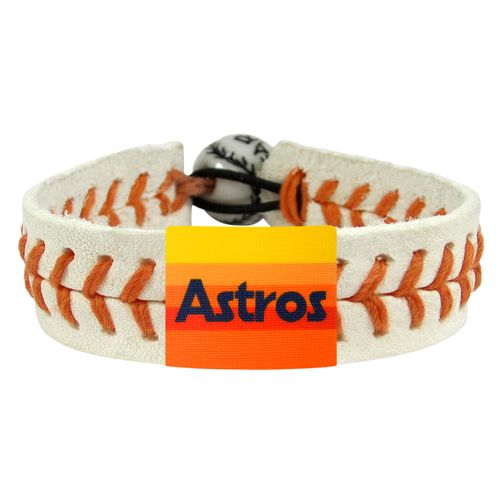 GameWear Men's Houston Astros Retro 80s Wordmark Baseball Bracelet