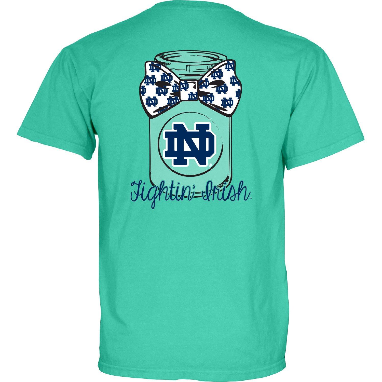 Blue 84 Women's University of Notre Dame Mason Jar Overdyed T-shirt