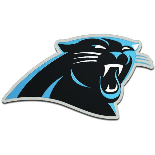 Stockdale Carolina Panthers Acrylic Metallic Freeform Auto Emblem