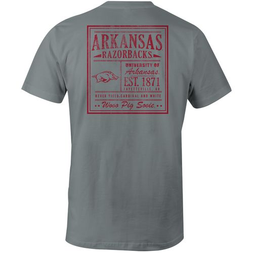 Image One Men's University of Arkansas Comfort Color Vintage Poster Short Sleeve T-shirt