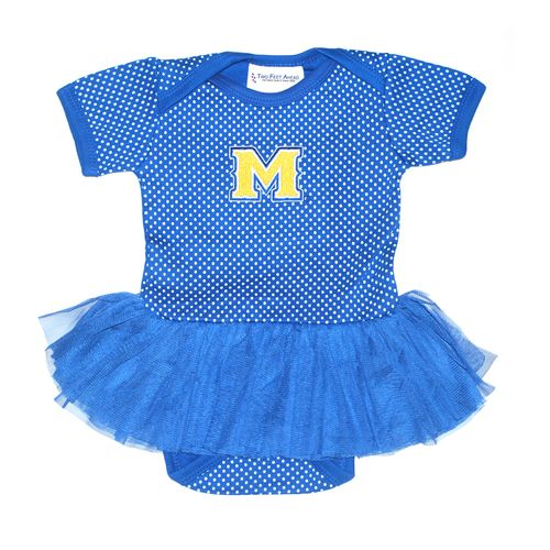 Two Feet Ahead Infant Girls' McNeese State University Pin Dot Tutu Creeper