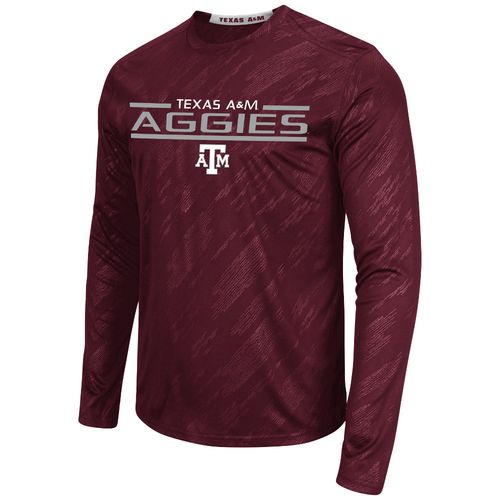 Colosseum Athletics™ Men's Texas A&M University Sleet Embossed Long Sleeve T-shirt