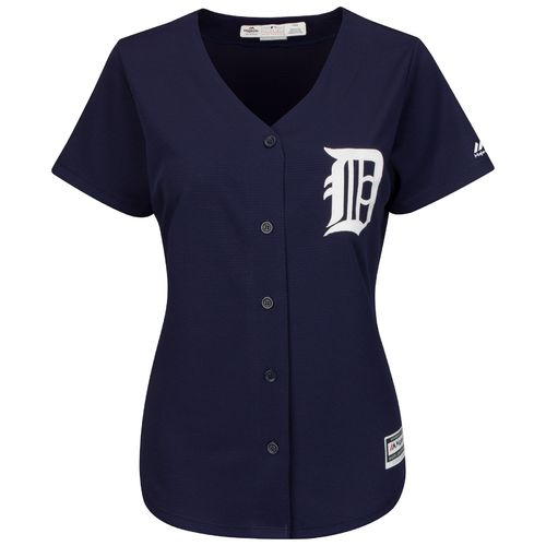 Majestic Women's Detroit Tigers J.D. Martinez #28 Authentic Cool Base Fashion Home Jersey - view number 3