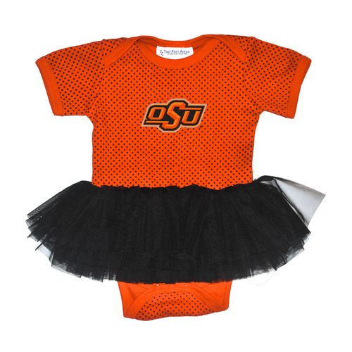 Two Feet Ahead Infant Girls' Oklahoma State University Pin Dot Tutu Creeper - view number 1