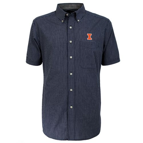 Antigua Men's University of Illinois League Short Sleeve Shirt