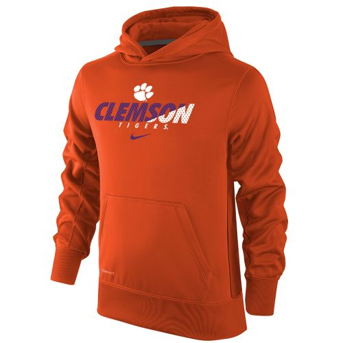 Nike Boys' Clemson University Therma-FIT KO Hoodie