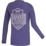 Image One Men's Texas Christian University Finest Shield Comfort Color Long Sleeve T-shirt