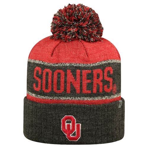 Top of the World Men's University of Oklahoma Below Zero Cuffed Knit Cap