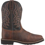Justin Men's Original Waxy Brown Steel-Toe Work Boots