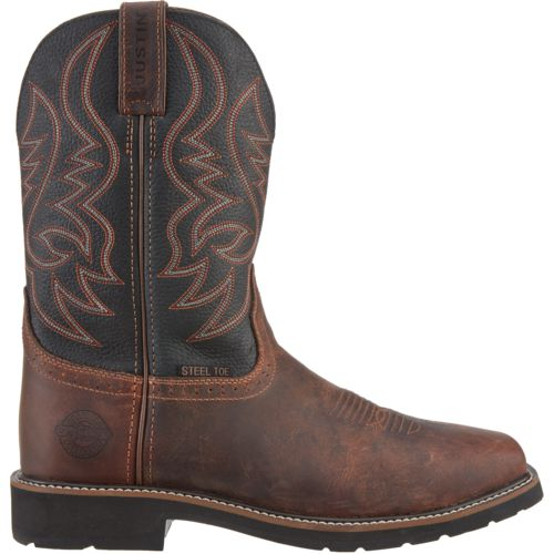 Justin Men's Exclusive Steel-Toe Work Boots