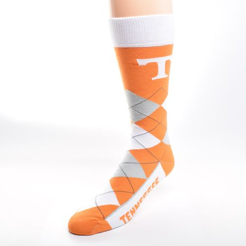 For Bare Feet Unisex University of Tennessee Team Pride Flag Top Dress Socks