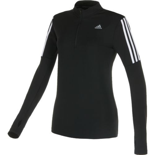 adidas™ Women's Response Long Sleeve 1/2 Zip Running Top