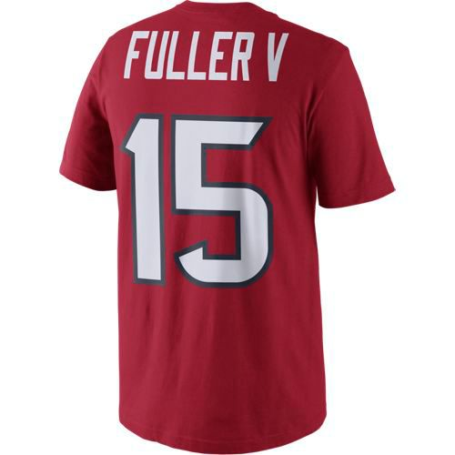 Nike Men's Houston Texans Will Fuller 15 Player Pride Name and Number T-shirt