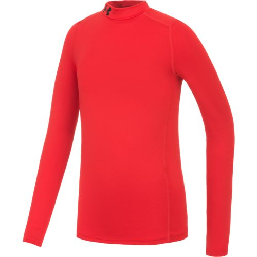 Under Armour Boys' ColdGear Armour Mock Neck Top