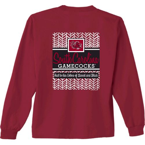 New World Graphics Women's University of South Carolina Herringbone Long Sleeve T-shirt