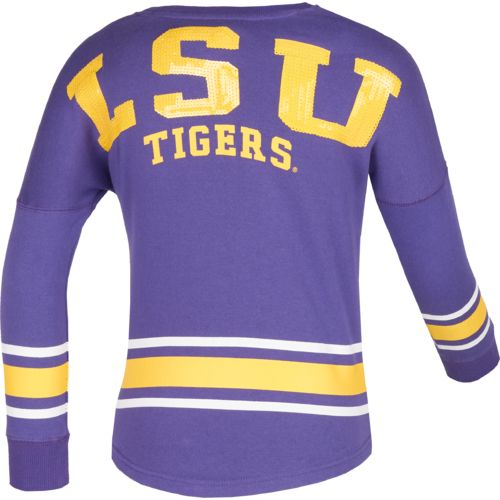 Colosseum Athletics™ Girls' Louisiana State University Boyfriend Varsity Pullover