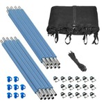 Upper Bounce® 8-Pole Trampoline Enclosure Set for 12' Round Frames with 4 or 8 W-Shape Legs - view number 1