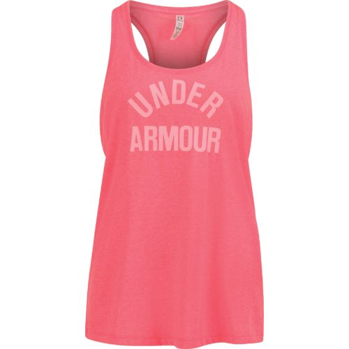 Under Armour Women's Threadborne Train Wordmark Twist Tank Top