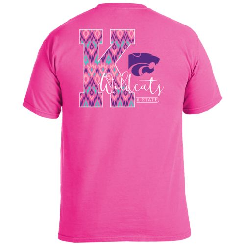Image One Women's Kansas State University Ikat Letter Script T-shirt