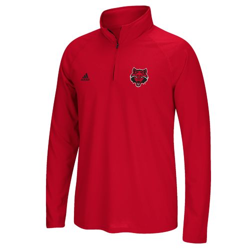 adidas Men's Arkansas State University Sideline Basic Logo 1/4 Zip Pullover