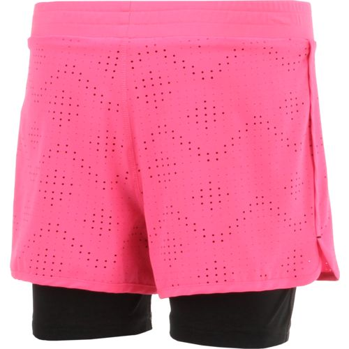 BCG Girls' Laser Cut Twofer Short - view number 2