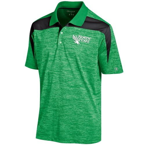 Champion™ Men's University of North Texas Synthetic Colorblock Polo Shirt - view number 1