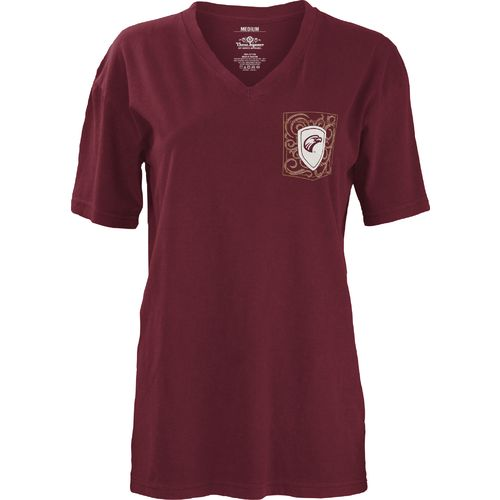 Three Squared Juniors' University of Louisiana at Monroe Anchor Flourish V-neck T-shirt - view number 2
