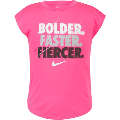 Nike™ Girls' Bolder Faster Fiercer Dri-FIT Modern T-shirt
