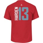 Majestic Men's Houston Rockets James Harden 13 Vertical Name and Number T-shirt - view number 1