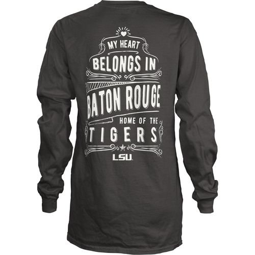 Three Squared Juniors' Louisiana State University Tower Long Sleeve T-shirt