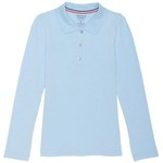 French Toast Girls' Long Sleeve Stretch Pique Polo - view number 1