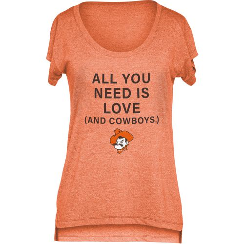 Chicka-d Women's Oklahoma State University Scoop-Neck T-shirt