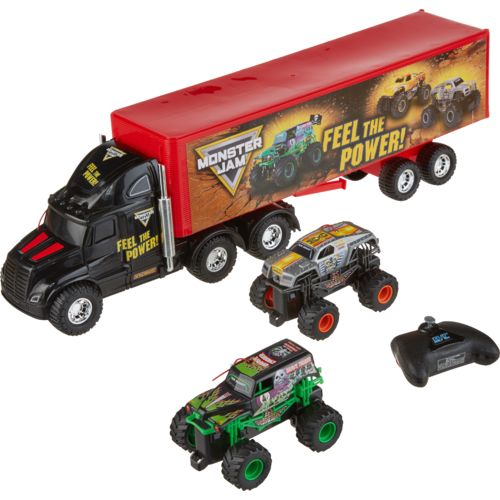 New Bright Monster Jam Hauler Set
