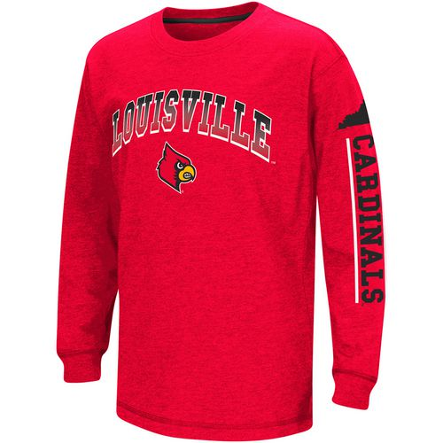 Colosseum Athletics Boys' University of Louisville Grandstand Long Sleeve T-shirt